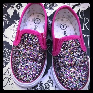 Cat & Jack Toddler Slip On Glitter Shoes